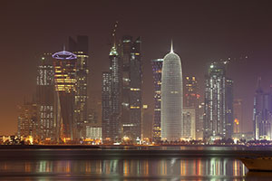 Doha-Skyline-At-Night-Qatar